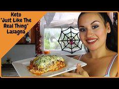 "Keto ""just like the real thing"" lasagna - YouTube Keto Lasagna, Large Egg, Mozzarella, Youtube, Youtubers, Youtube Movies"