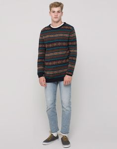 ALL OVER JACQUARD SWEATER - NEW PRODUCTS - NEW PRODUCTS - PULL&BEAR Israel