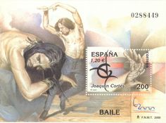 Spanish flamenco dancer Joaquin Cortés.  Stamp.