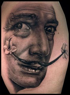 My muse, Salvador Dali, is finally by my side always and watching him be born on my arm was a life-changing experience. Done by the AMAZING Jamie Mahood at Suffer City Tattoo in Dallas, Texas on 7/6/2012.