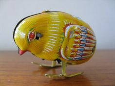 japanese wind up toys | Vintage MADE IN JAPAN Tin Lithograph Wind Up Toy Chick