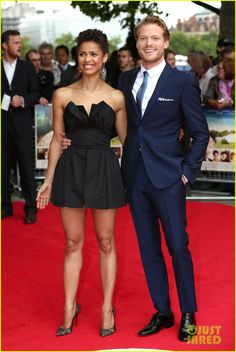 Gugu Mbatha-Raw Is the Beautiful 'Belle' of the Ball in London!: Photo Gugu Mbatha-Raw meets up with her hunky co-star Sam Reid at the red carpet premiere of their new movie Belle on Thursday (June at BFI Southbank in London, England. Mixed Couples, Cute Couples, Real Couples, Sam Reid, Mbatha Raw, Afro, Biracial Couples, Raw Photo, Interracial Couples