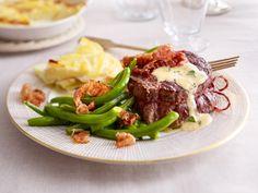 Weihnachtsessen mit Fleisch - feine Braten, Filet & Co. - rinderfiletsteak-mit-cognacsahne  Rezept