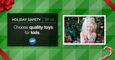 Choose quality over quantity when it comes to your children's toys - flimsy edges could be hazards when cracked or broken. #StaySafe #Kids #Toys #ToySafety #ADT #HappyHolidays #Gifting