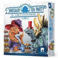 Dinosaur Tea Party Game $19.95  Description It's the most sought-after invitation of the year: Dinoton Abbey for high tea. Now you're all gussied up in your bespoke finery and sporting the hottest fascinator straight from Savile Row. Dinosaur Tea Party is a thorough reimagining of Whosit?, the 1967 identity-guessing game. Each player is a dinosaur with a hidden identity. The first player to deduce everyone's name wins the game and is sure to be invited back for Sunday supper. 2-5 players…