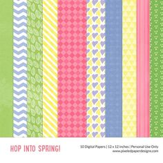 Free Digital Paper Pack Hop into Spring ⊱✿-✿⊰ Join 4,200 others & follow the Free Digital Scrapbook board for daily freebies. Visit GrannyEnchanted.Com for thousands of digital scrapbook freebies. ⊱✿-✿⊰