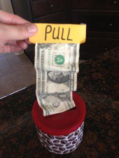 Money gift idea for a boy