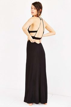 Out From Under Strappy Back Maxi Cover-Up Dress