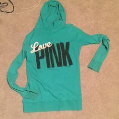 Victoria's Secret Pink Zip up Mint colored jacket! In perfect condition! PINK Victoria's Secret Jackets & Coats
