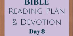 "Once A Day Bible Reading Plan & Devotion: Day 8. Daily Bible reading plan based on the Once a Day Chronological Bible with an original devotion, ""Raw, Tenacious Faith"" Job 18:1..."