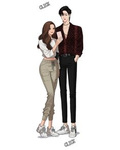 Girl Cartoon Characters, Couple Cartoon, Story Characters, Doll Images Hd, Sweet Drawings, Cute Couple Art, Pretty Anime Girl, Cartoon Girl Drawing, Ulzzang Korean Girl