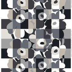 The Ruutu-Unikko fabric from Marimekko is designed by Maija and Emma Isola and is a modern iteration of the classic Unikko pattern. The Ruutu-Unikko pattern was designed to honor Unikko's 50-year anniversary in 2014 and combines the iconic poppy flowers with a stylish grid pattern. A fun mixture that reminiscent of classic pop art!