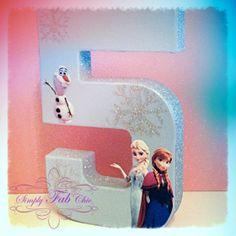 Disney Frozen them Birthday Party Photo Prop / Table Décor by Simply Fab & Chic