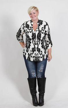 Plus Size Clothing for Women - Jessica Kane Printed Tunic (Sizes 16 - 24) - Society+ - Society Plus - Buy Online Now!