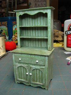 Muebles casa de muñecas en miniatura - Tutoriales | minis 1 pulgada: Cómo hacer una cómoda cocina con tablero de estera
