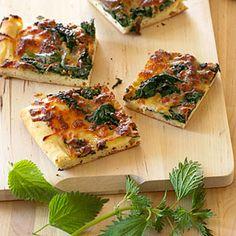 18 homemade pizza recipes   Nettle Pizza   Sunset.com