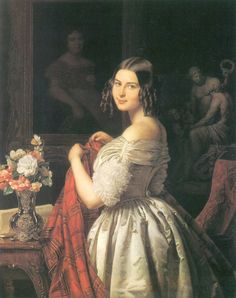 1840 Ferdinand Georg Waldmüller - Young lady at her toilette