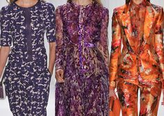 J.mendel SS2013-Rich Florals / Inky Watercolours / Floral Overlays  / Jewel Colours