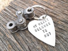Dirt Bike Racing Keychain My Heart Belongs to by CandTCustomLures