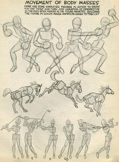 "Preston blair, ""movement of body masses"" drawing skills, drawing lessons, drawing Drawing Lessons, Drawing Skills, Drawing Techniques, Figure Drawing, Animation Reference, Drawing Reference, Learn Animation, Illustrator Tutorials, Art Tutorials"