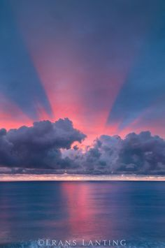 Winter Sunset - Monterey Bay, California, ~ © Frans Lanting *