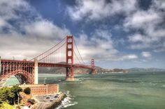 Poster & Download: Dorato San Francisco Rot Wolken Himmel Space Kategorien: landschaften, dorato, san, francisco, red, clouds, sky, space, perspective, bridge, america, u, s, bay, sea, landscape, day, light, water, green, blue