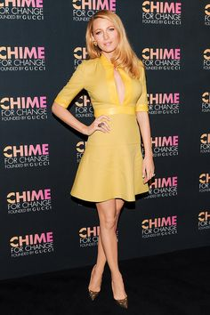 Blake Lively took a page from Beyoncé's book and wore an equally seductive neckline to the same event.