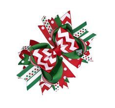 christmas hair bows - Google Search