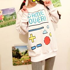 Game over Long-sleeved Sweater [Japanese, Korean, Seoulfashion, Girls]