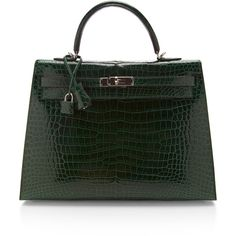 Heritage Auctions Special Collections Hermes 35Cm Vert Fonce Shiny... (€74.585) ❤ liked on Polyvore featuring bags, handbags, hermes, vert fonce, man bag, croc purse, croc embossed handbags, handbag purse and croco handbags