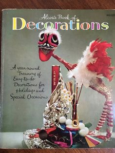 A year round treasury of easy to do decorations for holidays and special occasions made from Alcoa aluminum foil-Christmas, Easter, Halloween and parties! Alcoa with Conny Von Hagen Alcoas Book of Decorations is a delightful book showing some zany and funny things to do with alfoil! Oh craft of the 1950s!! Structurally intact, slight yellowing to pages, light soil and wear, shows some minor edge and corner wear on cover 93 p. Includes: illustrations, diagrams. Softcover Publisher: Golden…