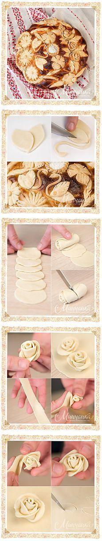 Comme il est beau de décorer le pain ou d'autres produits de boulangerie.