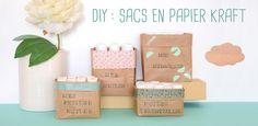 DIY cosmétique : Tuto pour fabriquer un sac en papier kraft de rangement pour…