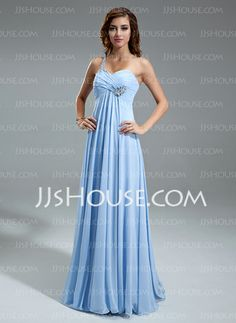 Holiday Dresses - $133.99 - Empire One-Shoulder Floor-Length Chiffon Holiday Dress With Ruffle Beading (020025949) http://jjshouse.com/Empire-One-Shoulder-Floor-Length-Chiffon-Holiday-Dress-With-Ruffle-Beading-020025949-g25949