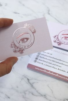 Business infographic : Rose Gold foil printed business card for Auckland Lash and Brows. Designed by Design by Cheyney and printed by Pinc Business infographic & data visualisation Rose Gold foil printed business card for Auckland Lash and Brows.