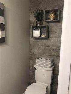 74 affordable rustic bathroom storage ideas 70 is part of Toilet closet 74 affordable rustic bathroom storage ideas 70 - Toilet Room Decor, Small Toilet Room, Half Bathroom Decor, Downstairs Bathroom, Simple Bathroom, Bathroom Storage, Bathroom Cabinets, Bathroom Organization, Bathroom Closet