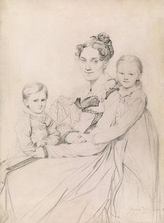 Jean-Auguste-Dominique Ingres   1780-1867   Frau Johann Gotthard Reinhold and Her Two Daughters, Susette and Marie   1815   The Morgan Library & Museum