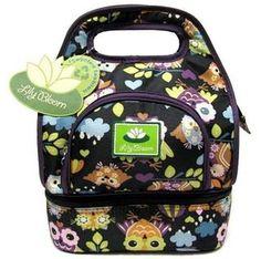 Owls - lunch bag