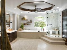 An elevated shower is sure to stand out. Design by Christopher Grubb.