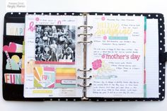 Carpe Diem Planner featuring the Sunshine & Happiness Collection by design team member Theresa Doan Life Planner, Planner Ideas, Carpe Diem Planner, Elizabeth Craft Designs, Simple Stories, Planner Organization, Filofax, Diy And Crafts, Sunshine