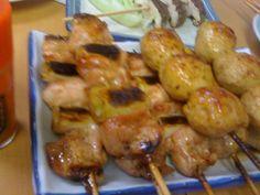Assorted Yakitori skewers, Tokyo Japanese Meals, Japanese Food, Skewers, Sausage, Tokyo, Chicken, Meat, Sausages, Tokyo Japan