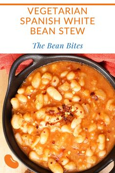This super easy to make vegetarian Spanish white beans stew makes a filling main course or a great side dish. Or it makes a great addition to an evening of Spanish tapas.