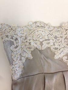 Lace silk dress detail