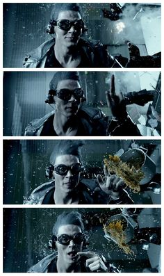 "Quicksilver (Evan Peters) in ""X-Men : Days of Future Past"""