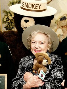 Betty White AND Smokey the Bear! Two people I adore!