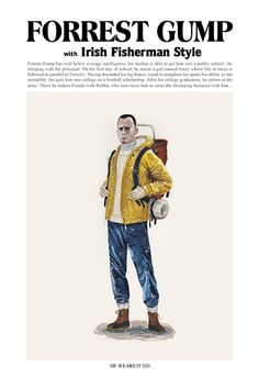 Thank you John Woo, this has truly made my day. Anything Hanks just does that to me, and you sir, you have done it.    HE WEARS IT 3 by John Woo, via Behance  #art #illustration #JohnWoo