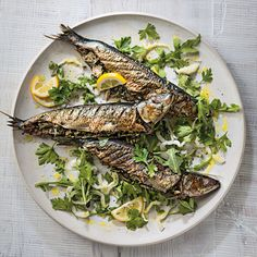 Grilled sardines, when stuffed with tuna, seasoned with lemon and served over arugula, they make an especially appetizing main dish.