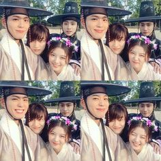 "22/03/2017) The four Park Bo Gum, Kim Yoo Jung, Jin Young and Dong Yeon from ""Moonlight Drawn By Clouds"""