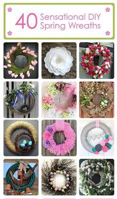 #42 DIY Beautiful DIY Spring Wreaths with tutorials !