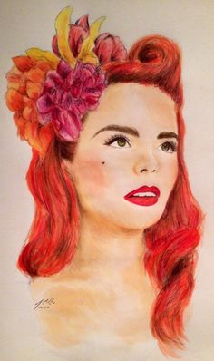 Paloma Faith - my own portrait, watercolour, pencil and Biro. #fanart